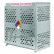 Nine forklift tank aluminum gas cage.